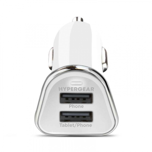 HyperGear Chargeur voiture double 3.4A Blanc