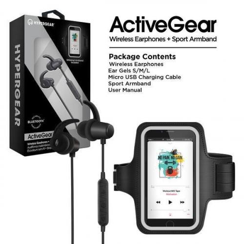 HyperGear Active Gear Wireless Earphones + Sport Armband Set