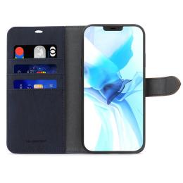 B.E. Folio Case iPhone 12 / 12 Pro Bleu/Tan