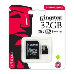 Kingston MicroSD 32 Go + Adaptateur