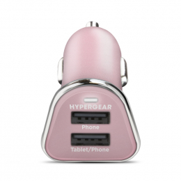 HyperGear Chargeur voiture double 2.4A Rose