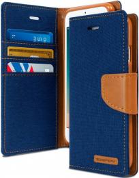 Canvas Diary - iPhone 12 / 12 Pro Bleu