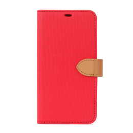 B.E. Folio Case iPhone 12 / 12 Pro Rouge/Beige