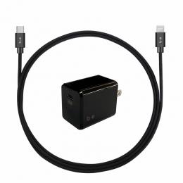 B.E. Câble lightning avec bloc USB-C