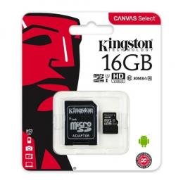 Kingston MicroSD 16 Go + Adaptateur