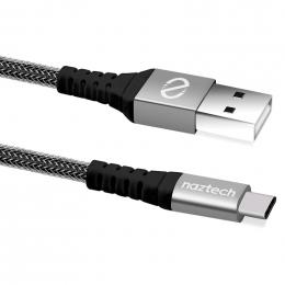 Cable USB a USB-C Tresse 4 pied Noir